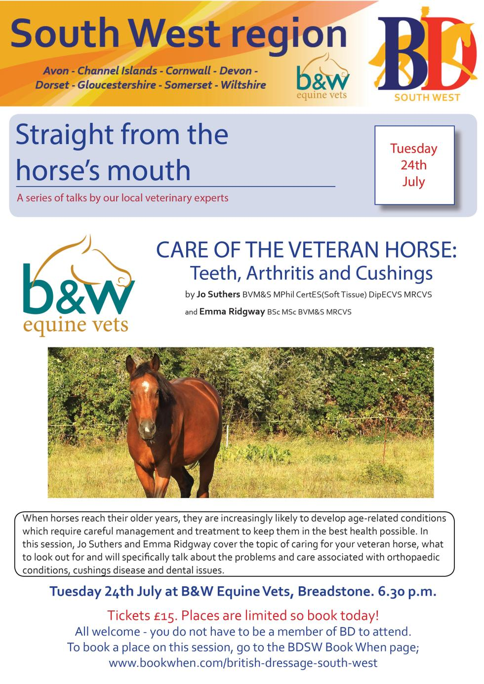 Care of the Veteran Horse Lecture